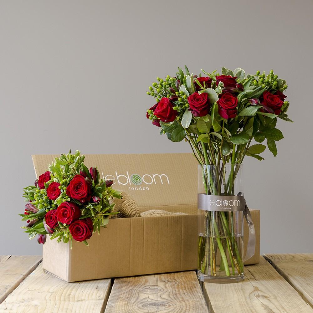 Flower Box 12 Red Roses